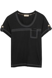 Burberry Brit Cotton Jersey T Shirt Black