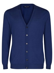 Aquascutum London Men's Chadwick Merino Cardigan Blue