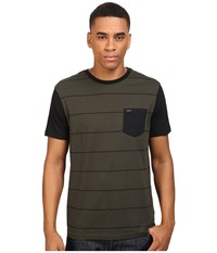 Rvca Change Up Crew Forest Men's Short Sleeve Pullover Green