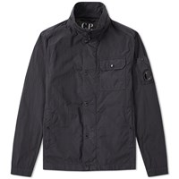 C.P. Company Arm Lens Zip Overshirt Black
