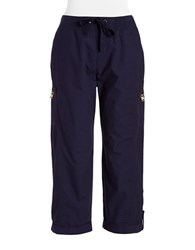 Calvin Klein Cotton Cargo Pants Navy