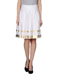 Ralph Lauren Black Label Knee Length Skirts White