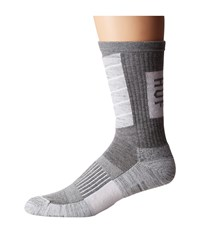 Huf Performance Plus Crew Sock Grey Heather Men's Crew Cut Socks Shoes Gray