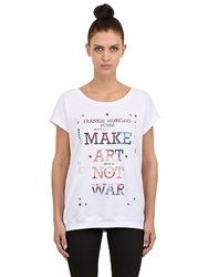 Frankie Morello Printed Cotton T Shirt White