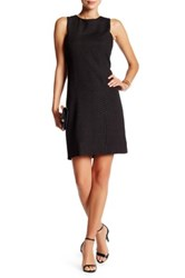 Love Ady Textured Animal Print Shift Dress Black