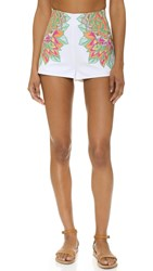 Mara Hoffman Embroidered Shorts White
