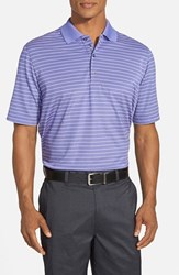 Men's Bobby Jones 'Xh20 Pencil Stripe' Tailored Fit Four Way Stretch Golf Polo Grape