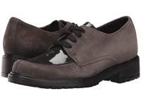 Munro American Veranda Grey Suede Patent Women's Lace Up Casual Shoes Gray
