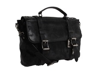 Logan Flap Brief Case Black Briefcase Bags