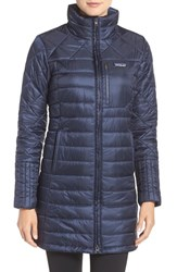 Patagonia Women's 'Radalie' Water Repellent Parka Navy Blue