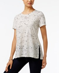 Styleandco. Style Co. Printed Swing Top Only At Macy's Galaxy White