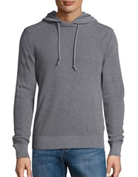 Michael Kors Waffle Knit Hooded Sweater Grey
