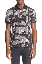 Men's Just Cavalli Camo Print Polo