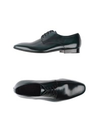 Armani Collezioni Footwear Lace Up Shoes Men Dark Green