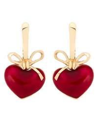 Kdia Heart Drop Earrings Red Yellow