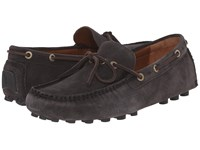Frye Russel Tie Slate Oiled Suede Men's Slip On Shoes Black