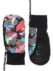 Level Bliss Coral Printed Ski Mittens