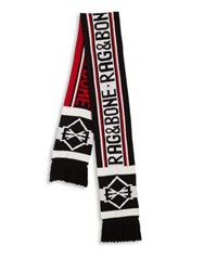 Rag And Bone Matthew Merino Wool Scarf Red
