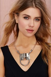 Nasty Gal Bond Hitch Ring Leather Necktie Collar