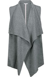 Duffy Draped Cashmere Vest Anthracite