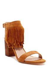 Restricted Kissy Fringe Heel Brown