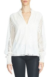 1.State Women's Blouson Sleeve Lace Blouse