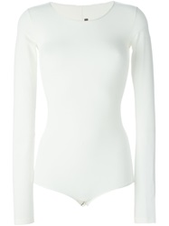 Rick Owens Lilies Long Sleeve Body Nude And Neutrals