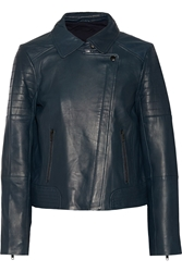 W118 By Walter Baker Tobey Leather Jacket Navy