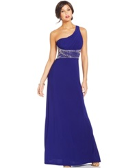 Hailey Logan By Adrianna Papell Juniors' One Shoulder Gown