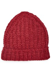 81 Hours By Dear Cashmere Hat With Alpaca And Merino Wool Red