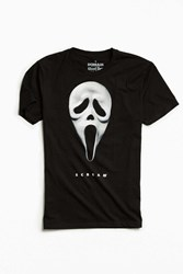 Urban Outfitters Scream Mask Tee Black