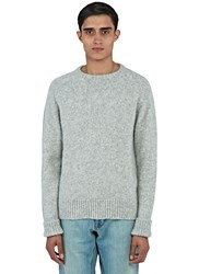 Ami Alexandre Mattiussi Alpaca Wool Crew Neck Sweater Grey
