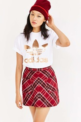 Adidas Rose Gold Double Logo Tee White