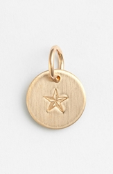Nashelle Nautical Star Mini Stamp Charm 14K Gold Fill Star