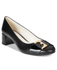 Anne Klein Hastobe Block Heel Dress Pumps Black