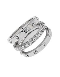 Michela Three Piece Eternity Ring Set Silver