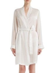 La Perla Jazz Time Cotton And Silk Short Night Robe White Black