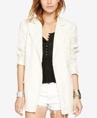 Denim And Supply Ralph Lauren Linen Double Breasted Jacket Summer Cream