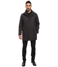 Marc New York Stanford Pressed Wool Car Coat With Removable Quilted Bib Charcoal Men's Coat Gray