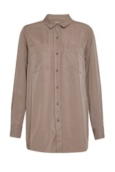 Great Plains Tara Tencel Long Sleeve Shirt Brown