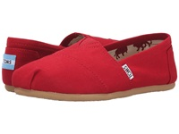 Toms Classics Red Canvas Women's Slip On Shoes