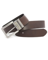 Black Brown Reversible Black Wrangler Logo Belt