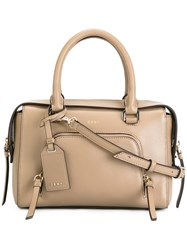 Dkny Small Zip Pocket Tote Nude Neutrals