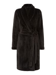 Calvin Klein Fluffy Robe Black