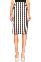 Brock Collection Sam Skirt In Brown Checkered And Plaid