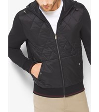 Quilted Panel Nylon And Fleece Jacket