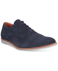 Bar Iii Men's Brad Suede Plain Toe Oxfords Only At Macy's Men's Shoes Navy