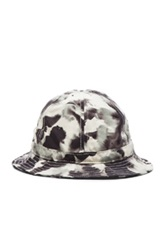 Patrik Ervell Watercolor Print Bucket Hat In Black White Ombre And Tie Dye