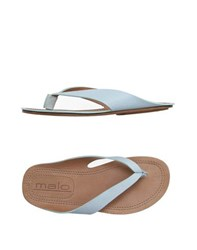 Malo Footwear Thong Sandals Women Sky Blue