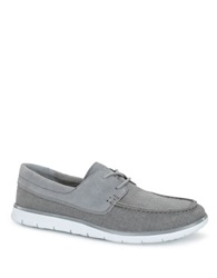Ugg Catton Canvas And Suede Loafers Grey
